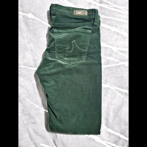 AG Stevie Forest Green Corduroy Jeans